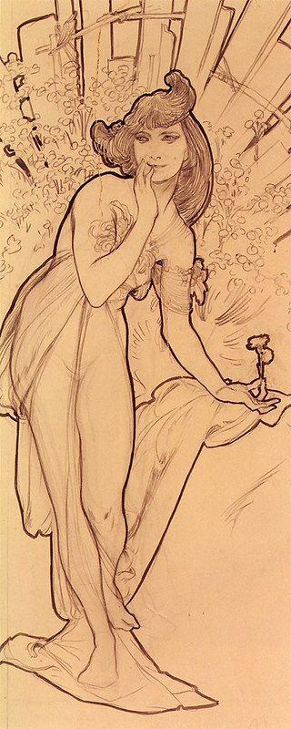mucha, alphonse maria - Carnation | by Amber Tree