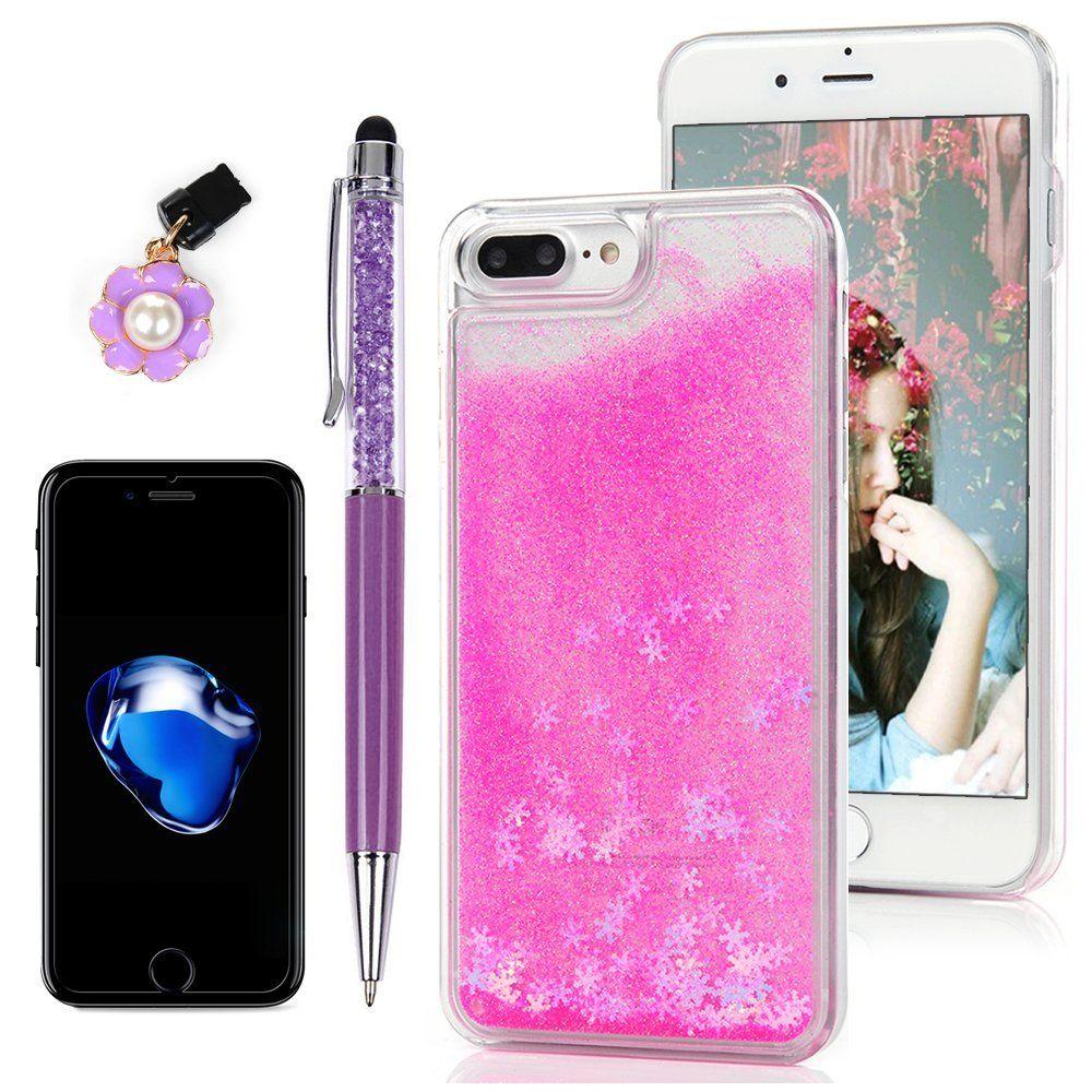 Iphone 8 Plus Case Iphone 7 Plus Case Protective Cover Bumper Flowing Liquid Floating Bling Glitter Quicksand Sp Cute Phone Cases Iphone Iphone 7 Plus Cases