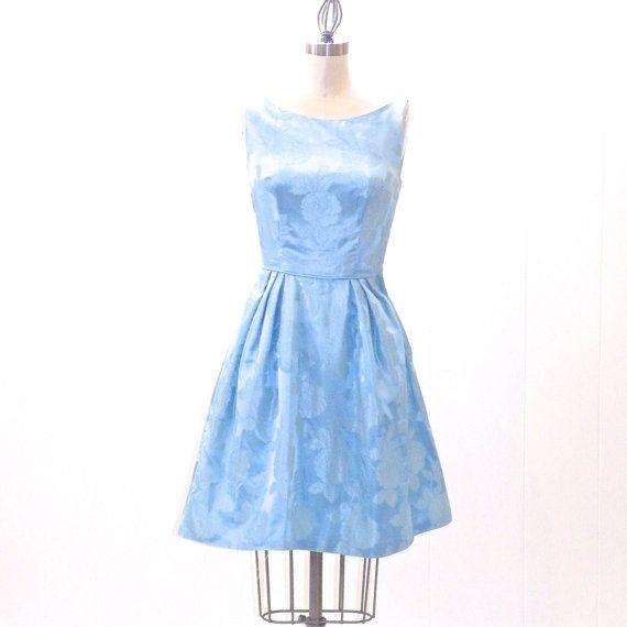 1960s Prom Dress, Short Formal Dress, XXS Blue Dress, Teen Dress 22 ...