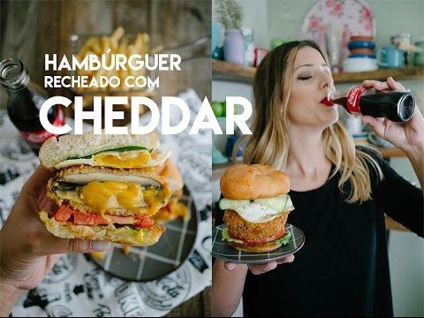 Taste Games: HAMBÚRGUER RECHEADO COM CHEDDAR