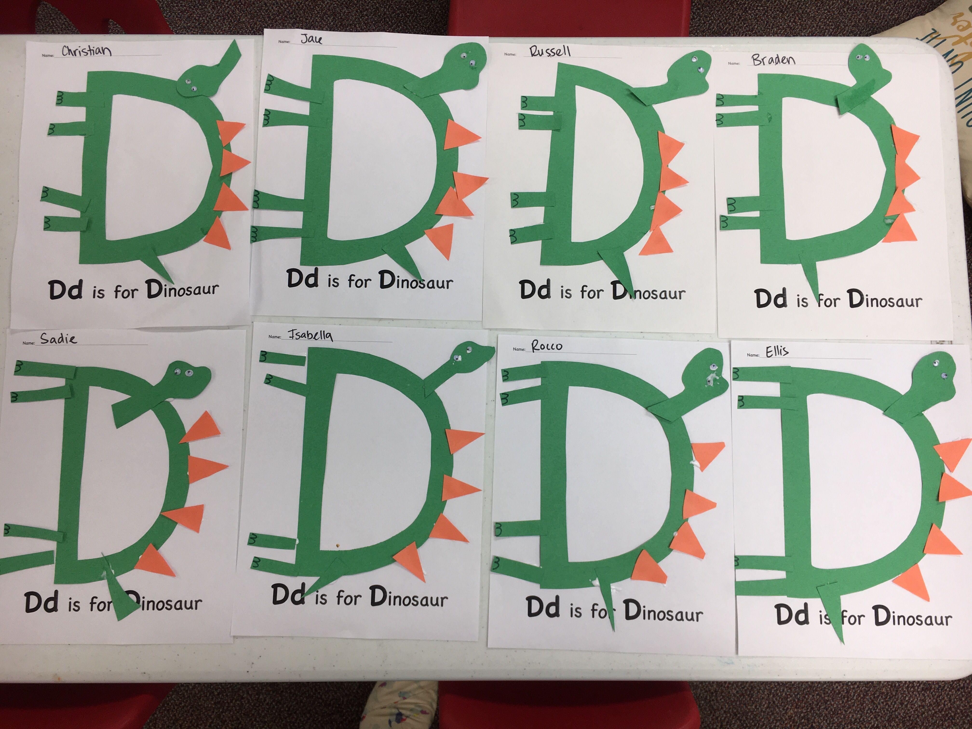 D Is For Dinosaurs Alphabet Craft Letter D