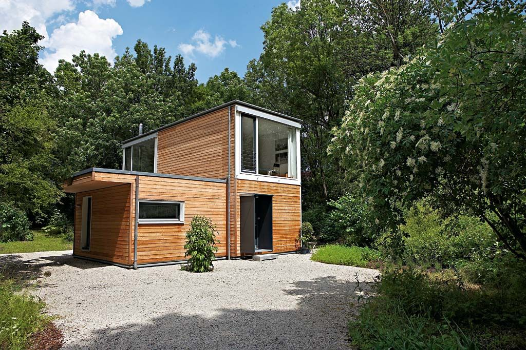 Modulhaus holz google search cabin pinterest leben for Wohncontainer fertighaus