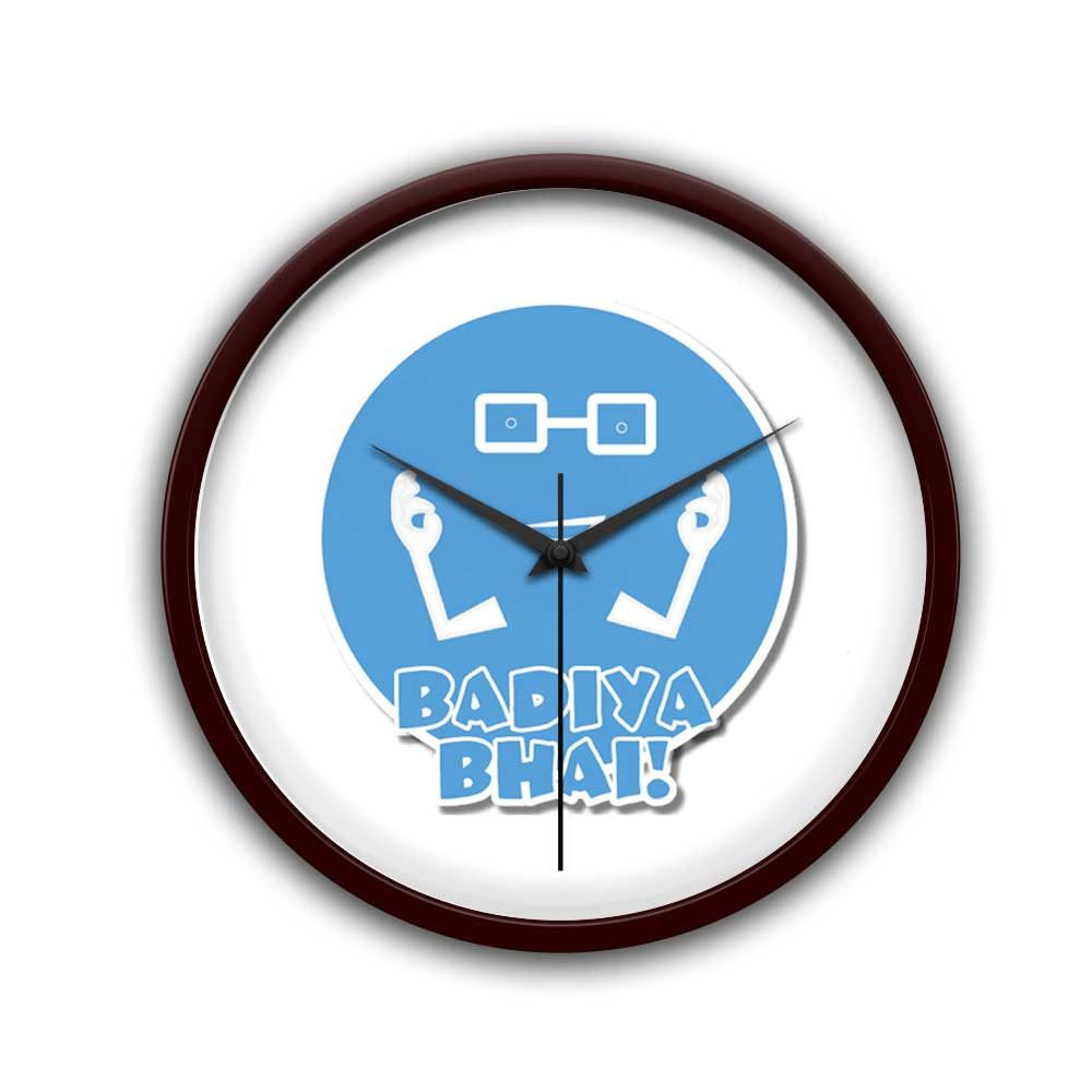 Badiya bhai desi emotion quirky illustration wall clock wall desi emotion quirky illustration wall clock amipublicfo Image collections