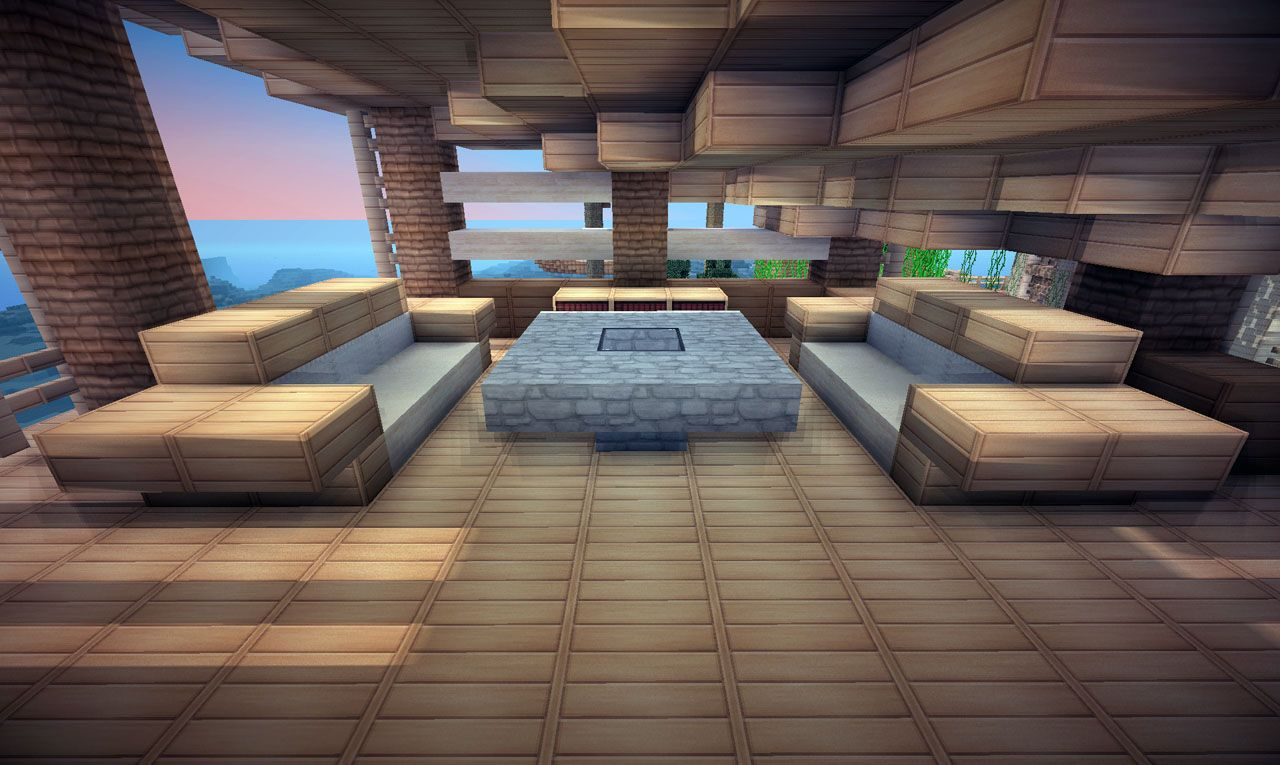 Jungle House On World Of Keralis Minecraft Project Jungle House Minecraft Jungle House Minecraft Plans Living room ideas keralis