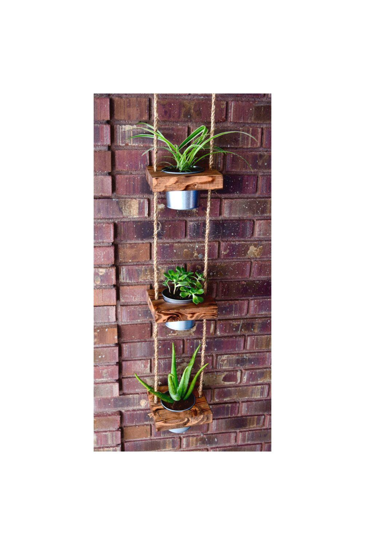 Hanging Planter Indoor Succulent Vertical Wood