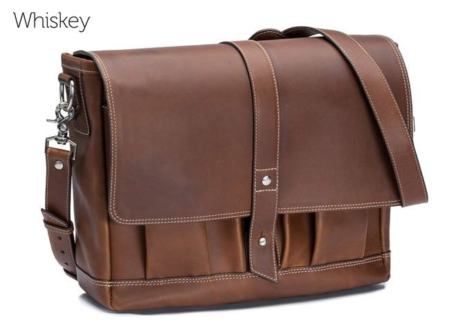 The Attache leather messenger bag by Pad   Quill is the king of laptop bags  This handmade men s messenger bag features unbreakable hardware c2bd0e255f75c