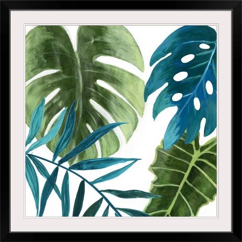 Tropical Leaves I Asia Jensen Painting Print In 2021 Tropical Leaves Painted Leaves Canvas Art