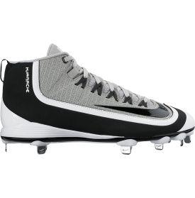 Nike Men's Huarache 2KFilth Pro Mid Baseball Cleats - Black/Grey | DICK'S Sporting Goods