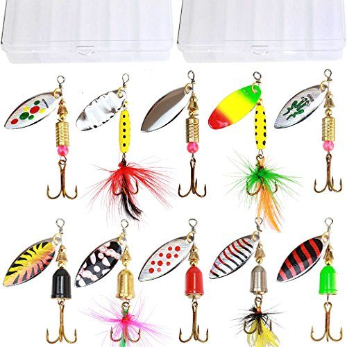 10pcs fishing lure spinnerbait bass trout salmon hard metal spinner 10pcs fishing lure spinnerbait bass trout salmon hard metal spinner baits kit with 2 tackle boxes by tbuymax tbuymax 10pcs high quality holograp solutioingenieria Image collections