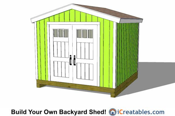 10x10 Tall Storage Shed Plans