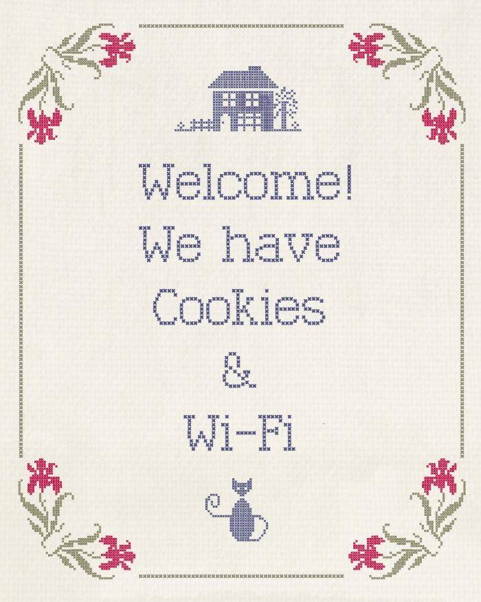 Cookies & Wi-Fi Art Print | Руки прочь | Pinterest | Kreuzstich ...