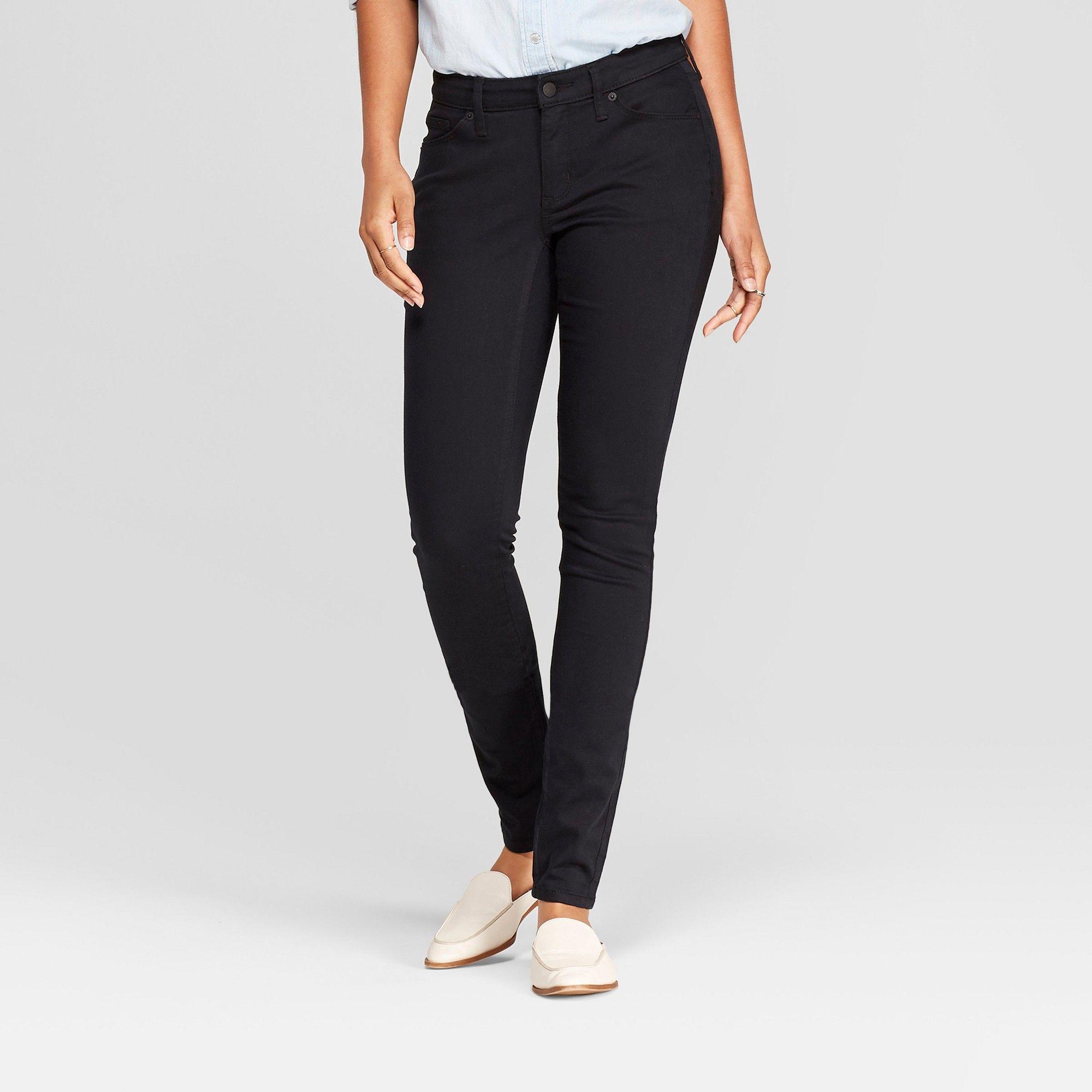 8d2a934950b Women s Mid-Rise Curvy Skinny Jeans - Universal Thread Black Wash 14 Short