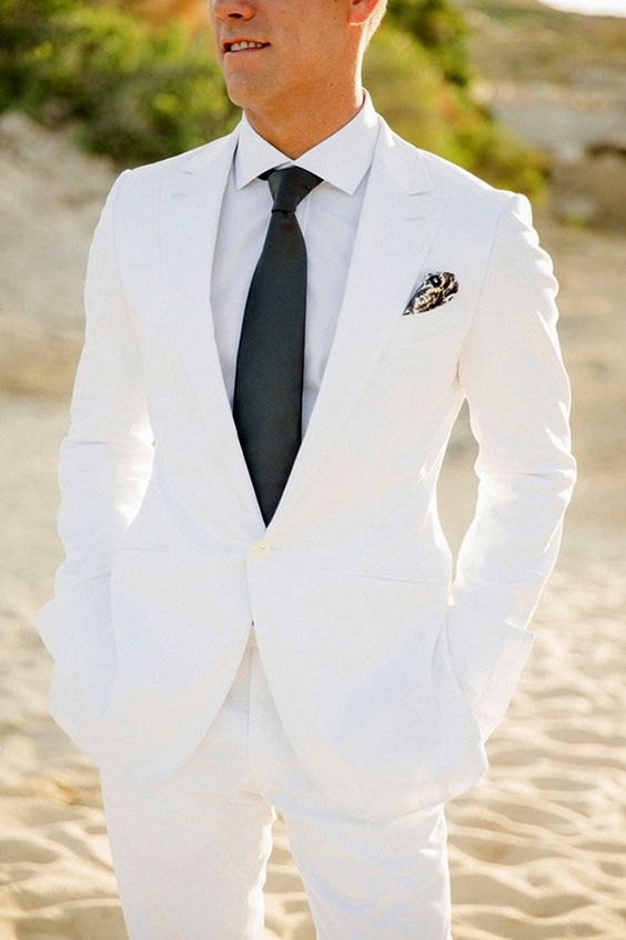 Groom Fashion Inspiration – 45 Groom Suit Ideas | Ivory white ...