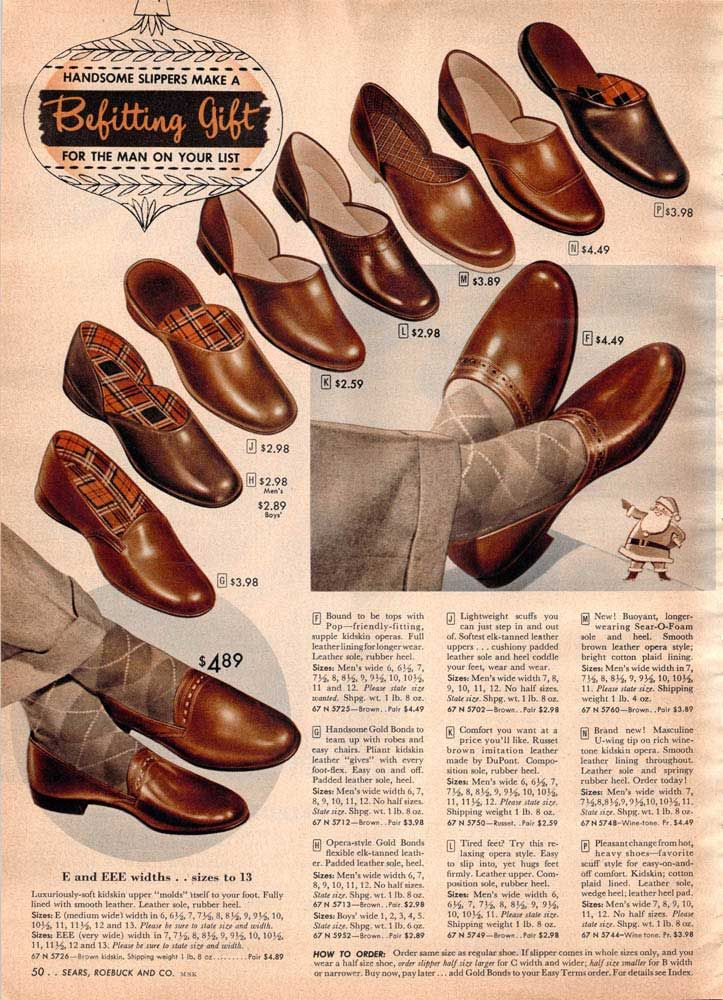 6cd6e643f44b Vintage Mens Shoes from a 1952 Sears catalog