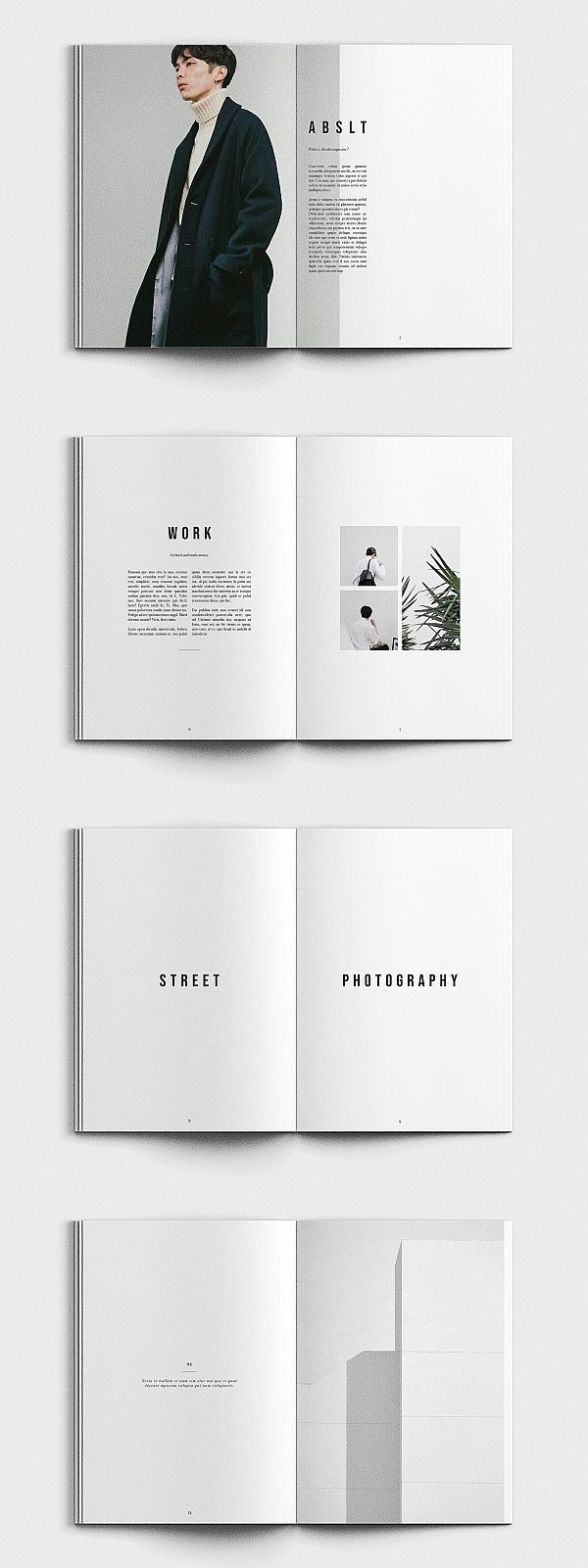 ABSOLUT Photography Portfolio Template #portfolio #lookbook #brochure #template #brochuretemplates #indesign #templates #layout #editorial