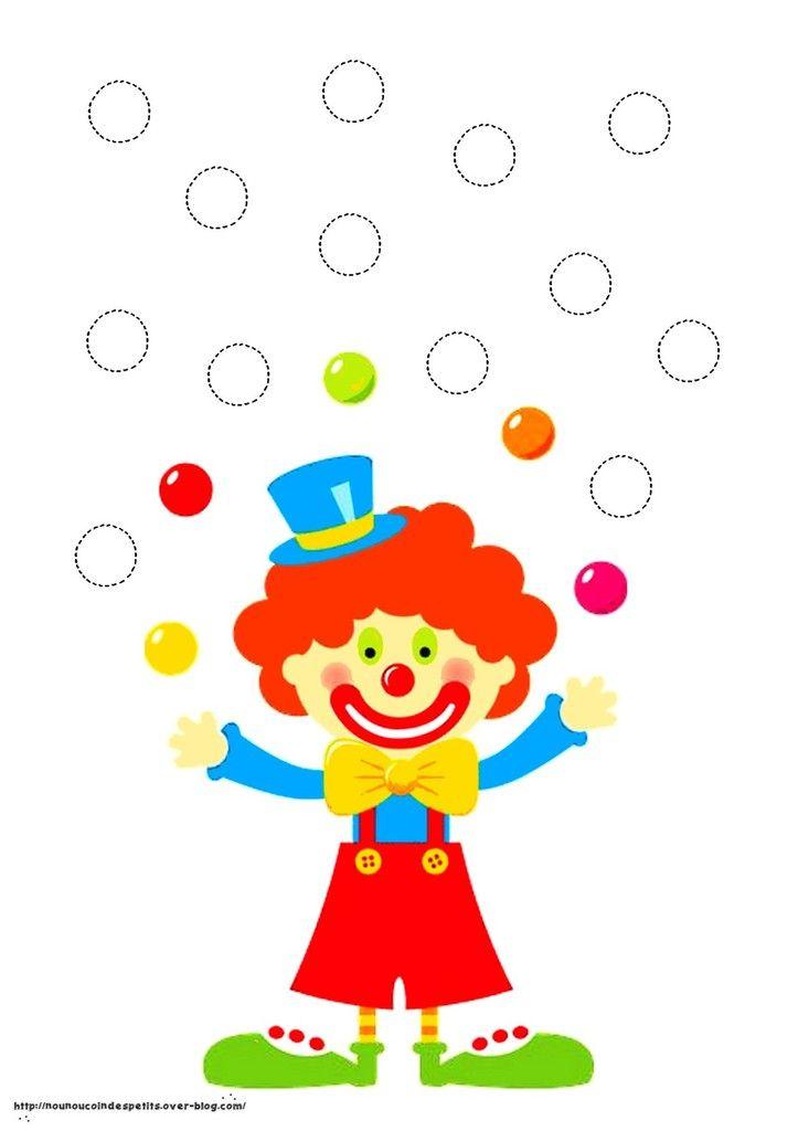 Tableau du clown jongleur cadre en playmais mardi - Image jongleur cirque ...