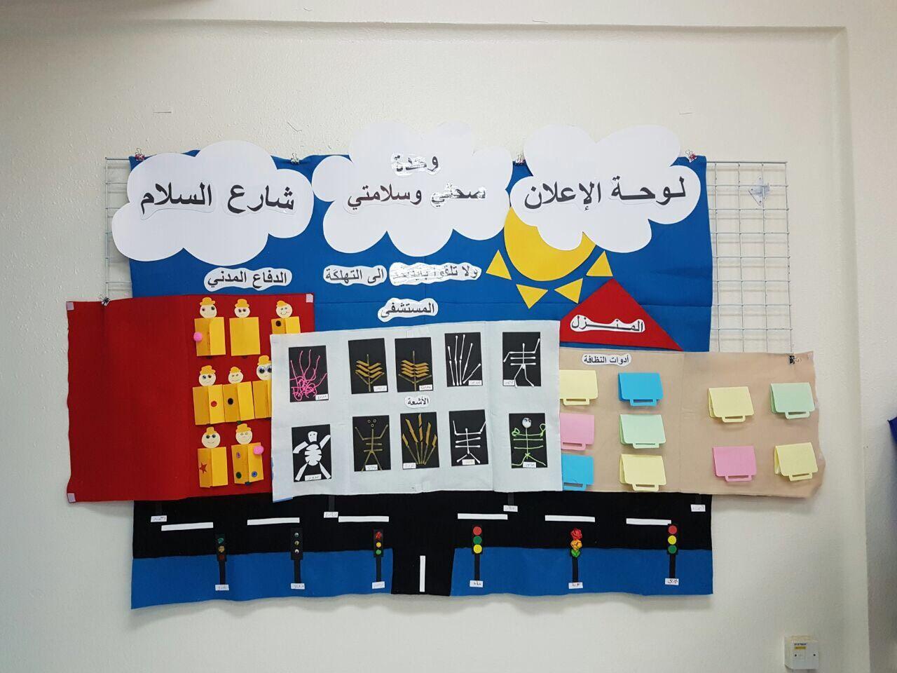 لوحة اعلان وحدة صحتي وسلامتي Preschool Classroom Holiday Decor