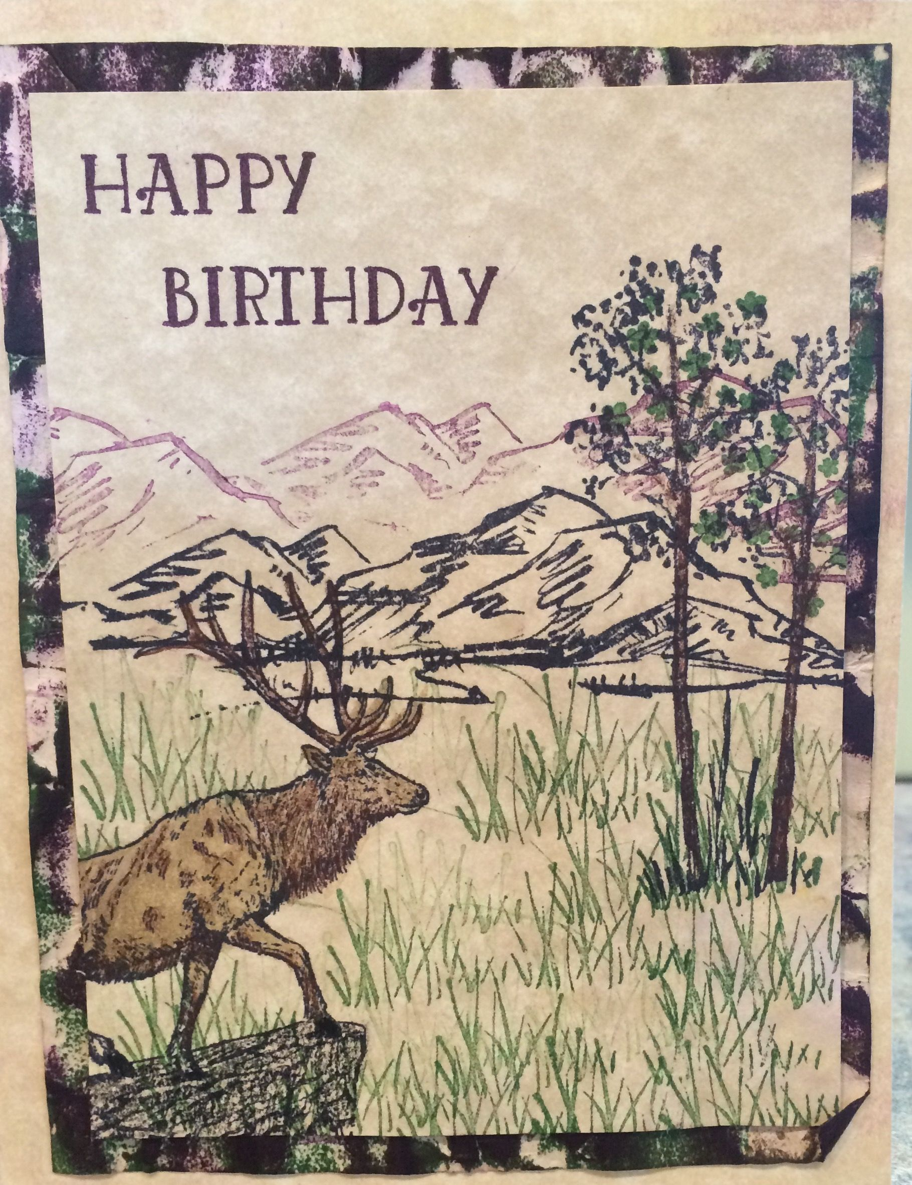 Birthday card i made for my husband using camouflage technique birthday card i made for my husband using camouflage technique stampn up stamps bookmarktalkfo Image collections