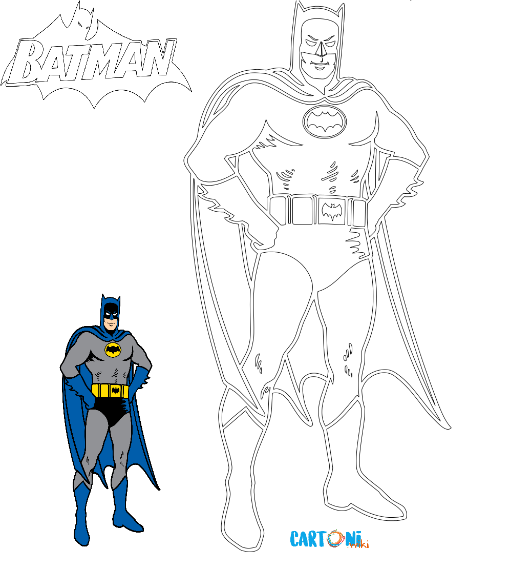 Cartoni Animati Colora Batman Il Supereroe Detto Anche Uomo Pipistrello Che Combatte Il Crimine A Ghotnam City Disegno Di Batman Disegni Da Colorare Batman
