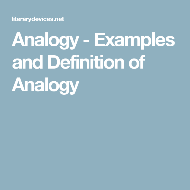 Analogy Examples And Definition Of Analogy Social Studies