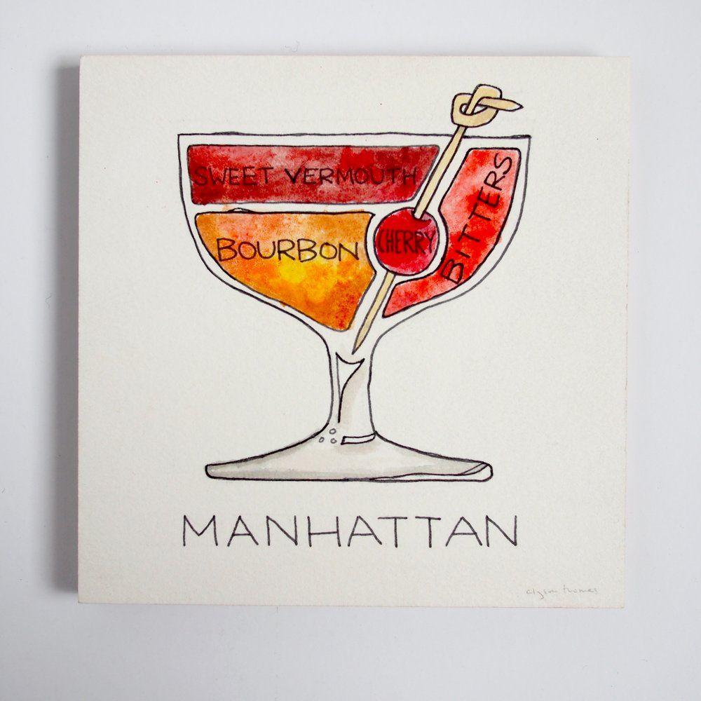 Image Result For Manhattan Cocktail Manhattan Cocktail Cocktail Illustration Cocktails Drawing