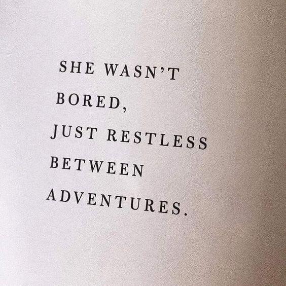 Just restless.