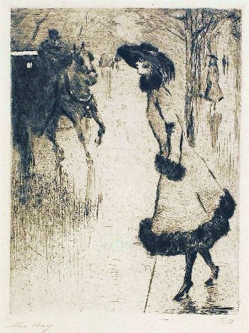 Famous horse artists drawing by the famous artist lesser ury