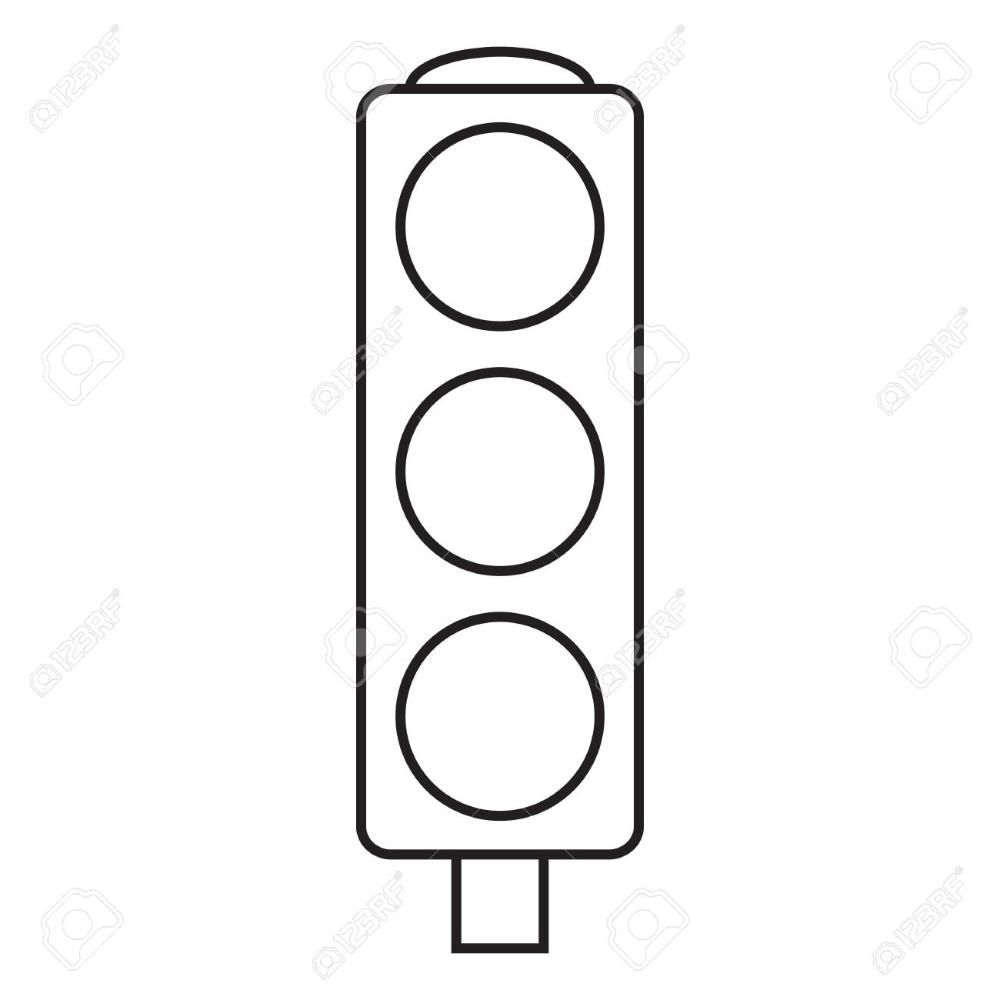 Line icon traffic light. Vector illustration. in 2020