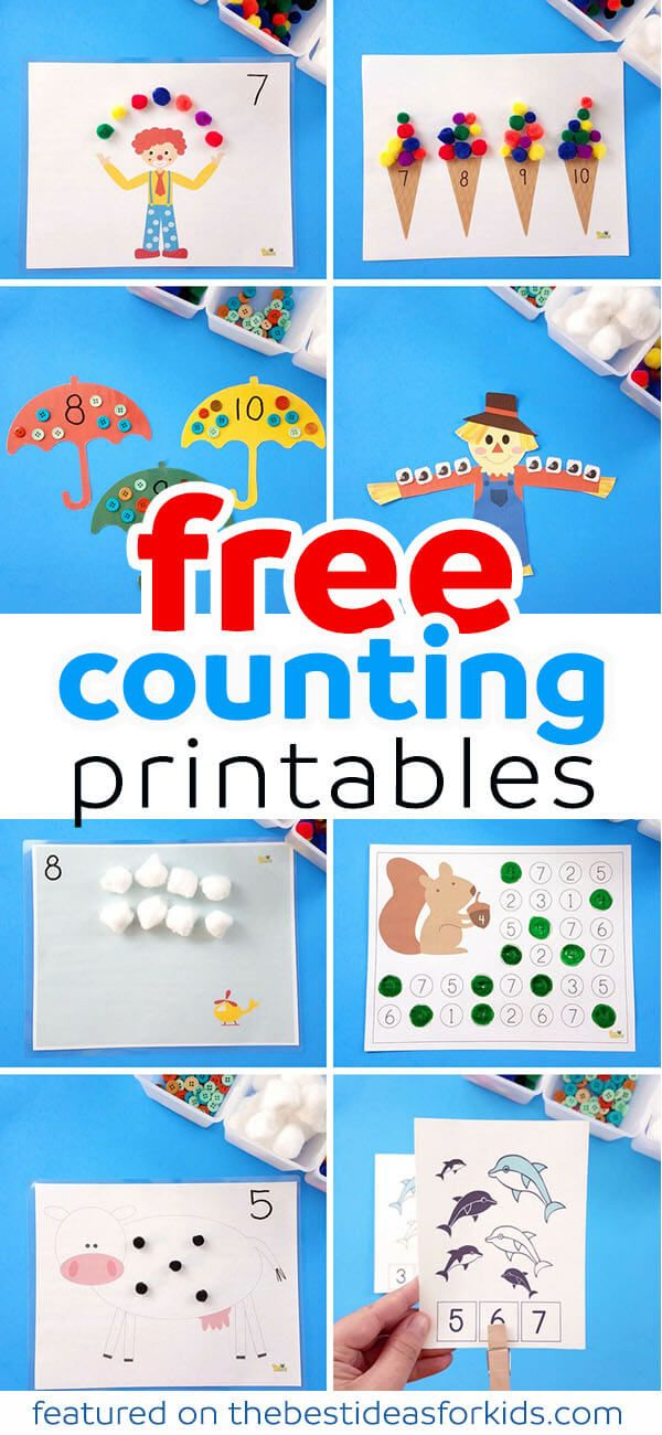 10 Free Counting Printables | Help teaching, Ice cream scoop and ...