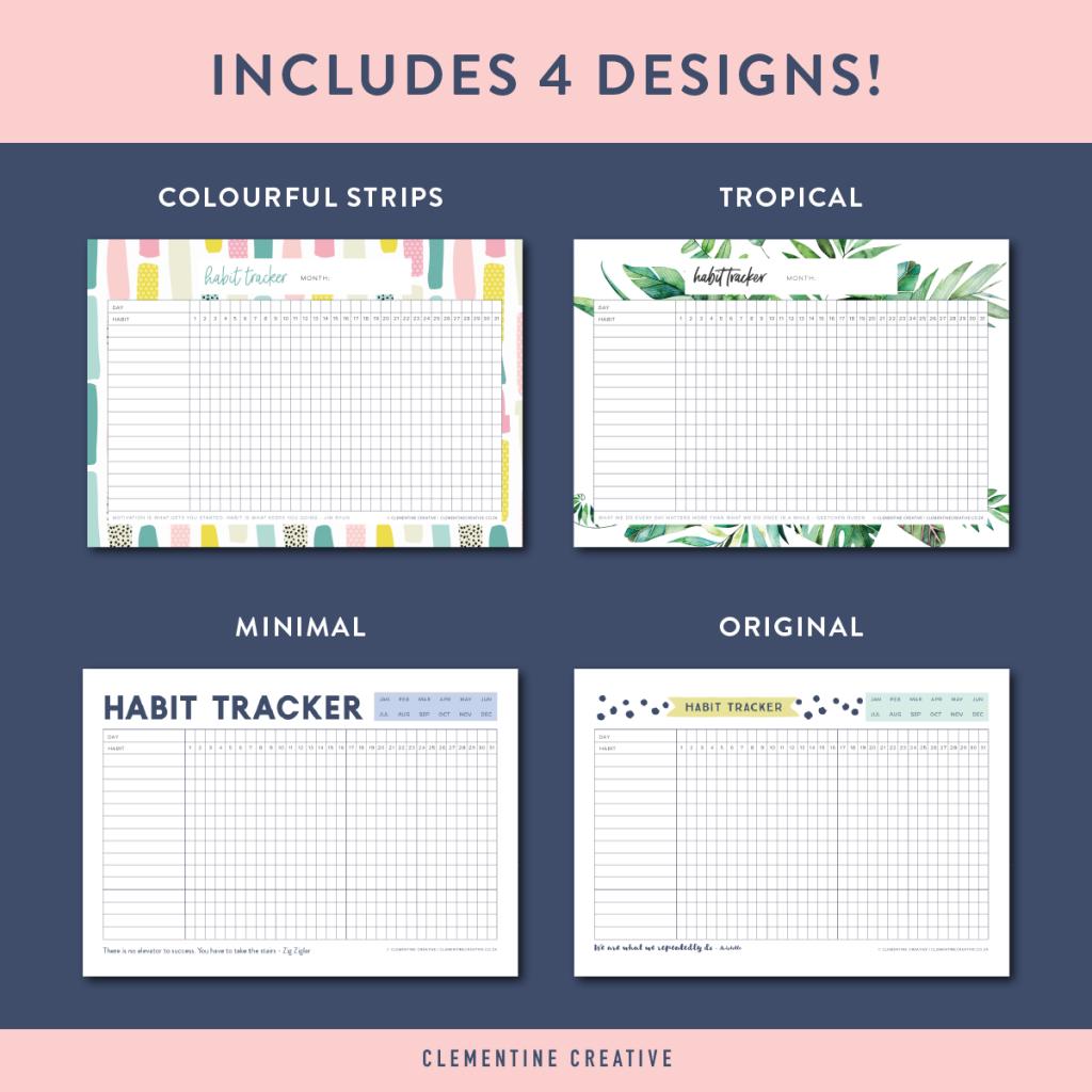 Printable Habit Tracker Editable