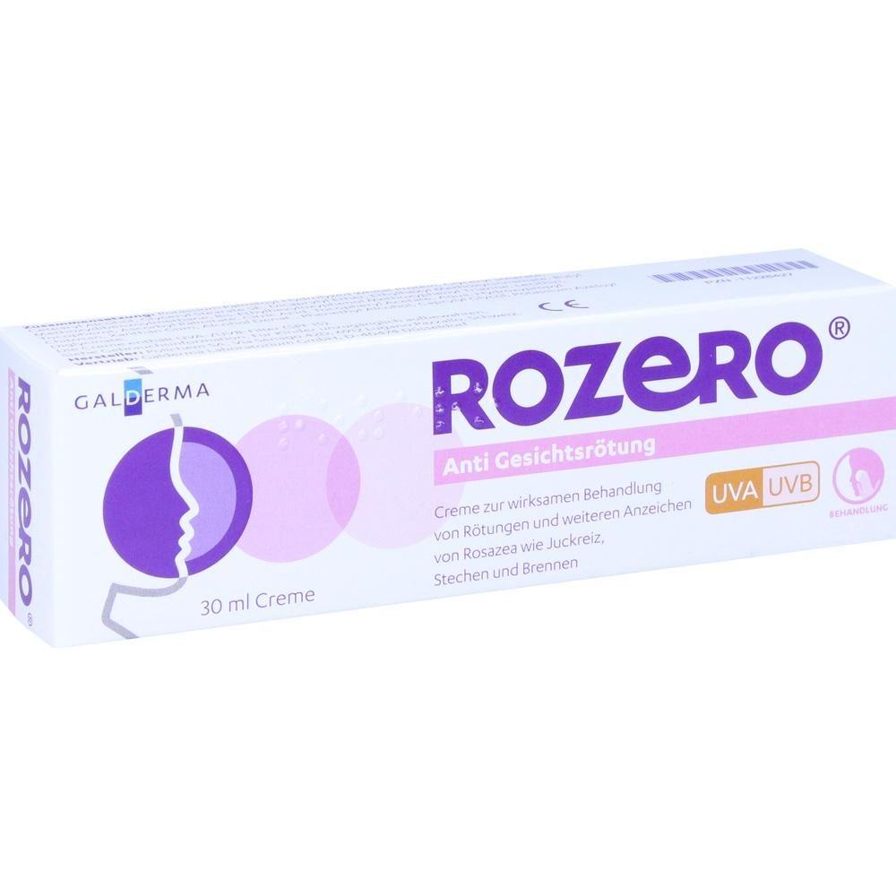 ROZERO Anti Gesichtsroetung Creme:   Packungsinhalt: 30 ml Creme PZN: 11228427 Hersteller: Galderma Laboratorium GmbH Preis: 18,11 EUR…