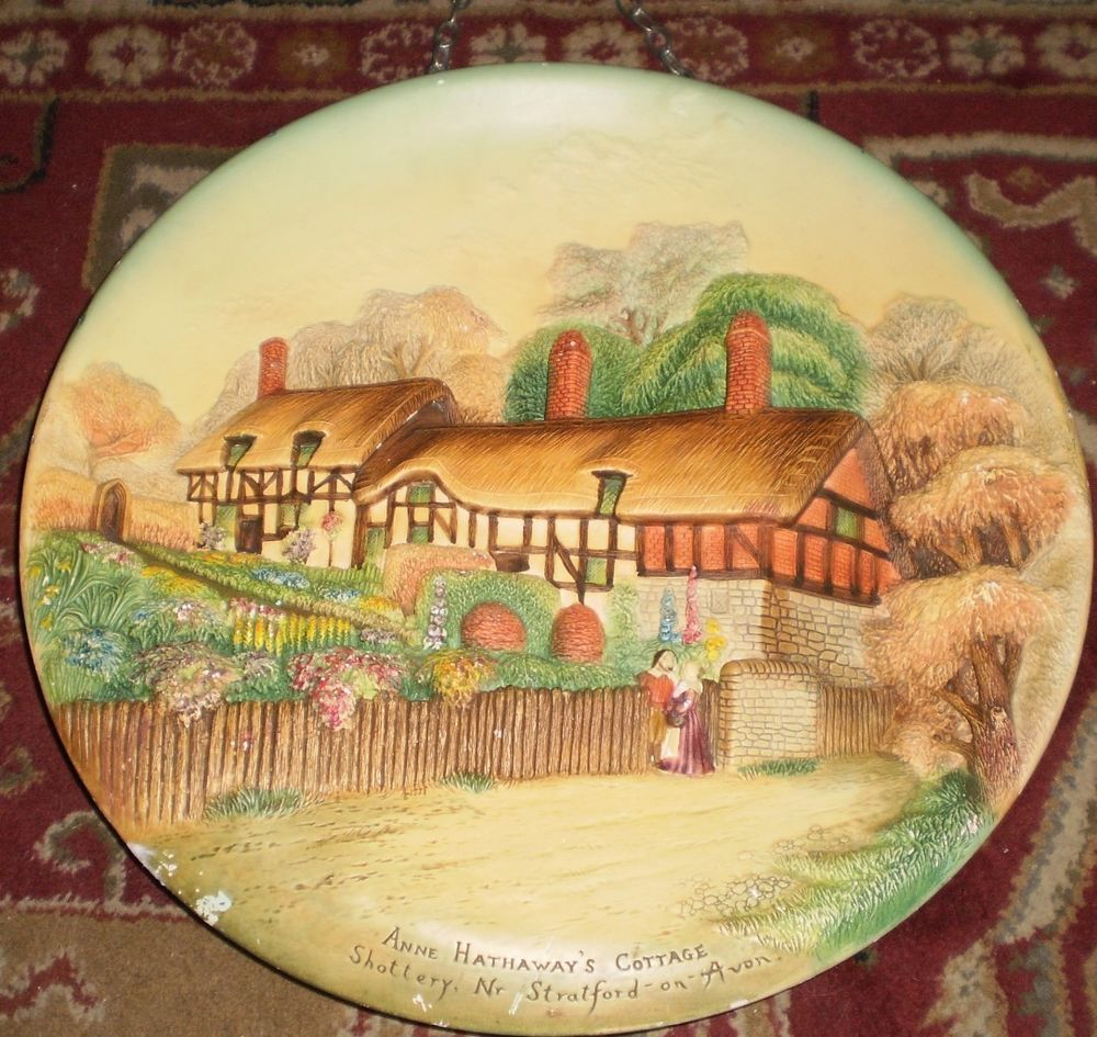 1950\'s W.H. BOSSONS Large Chalkware WALL PLATE PLAQUE (ANNE ...