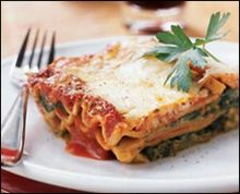 Hungry Girl eggplant lasagna-only 4 g fat and 238 cal...trying it tomorrow!