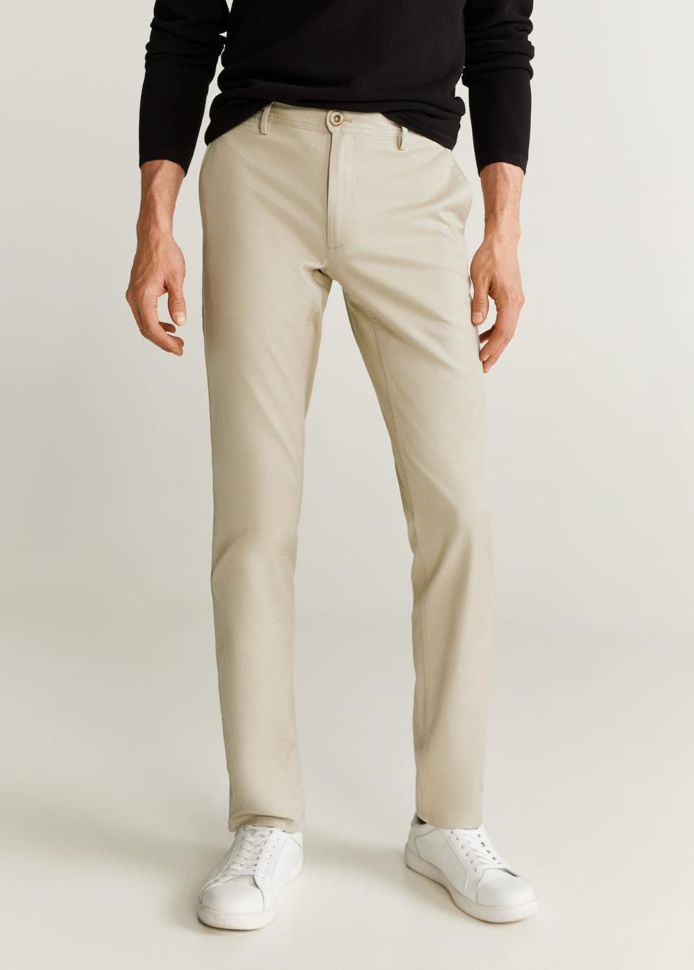 Pantalon Chino Slim Fit Hombre Mango Man Espana Zalando