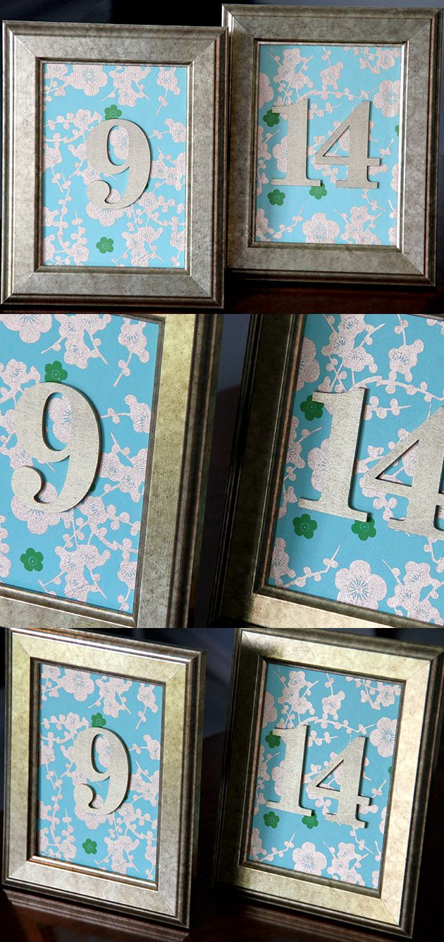 Elegant DIY wedding table numbers: Made with wrapping paper, IKEA ...