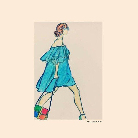 #Paris_Fashion_Week  #Street_style / #springsummer16trends #Off_the_Shoulder #A_stylish_look #Off_the_Shoulder_mini_dress  #FerJonathan
