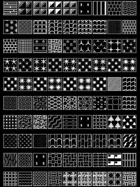 Hatchs patterns para Autocad 2d … | linh | Autocad, Hatch pattern