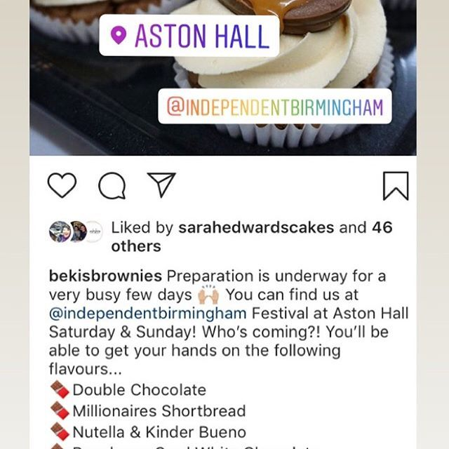 If you can't make it to Aston Hall this weekend you can pick up a truly scrumptious  @bekisbrownies at GORGE in Stratford upon Avon every day of the week! Oh, and we also have the greatest bagels and the best coffee in town especially for you 😘 . . . .