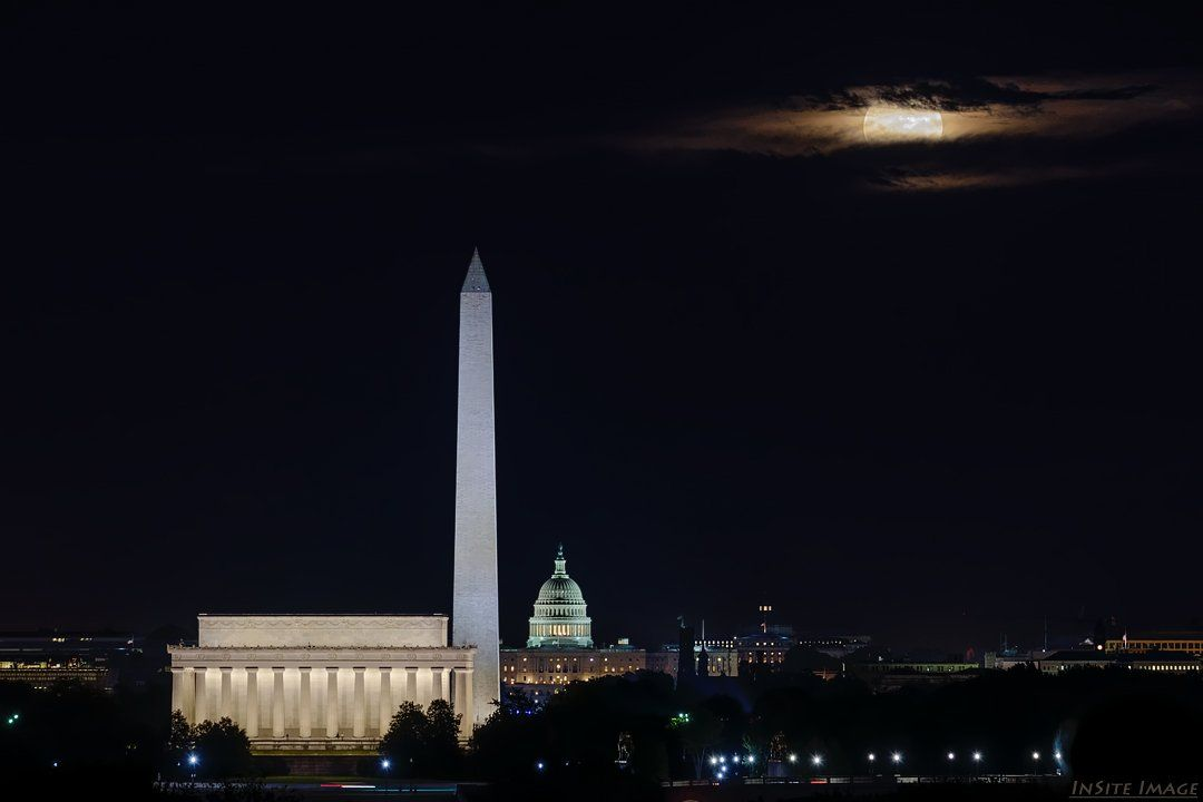 Tonight S Harvest Moon Over Washington Dc Photo From Insiteimage