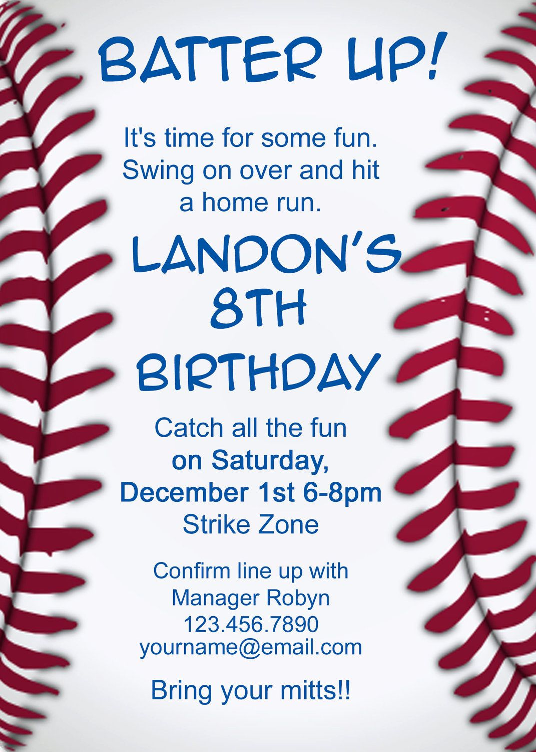 Baseball Invitation - wording | Baby Davis!!! | Pinterest | Baseball ...