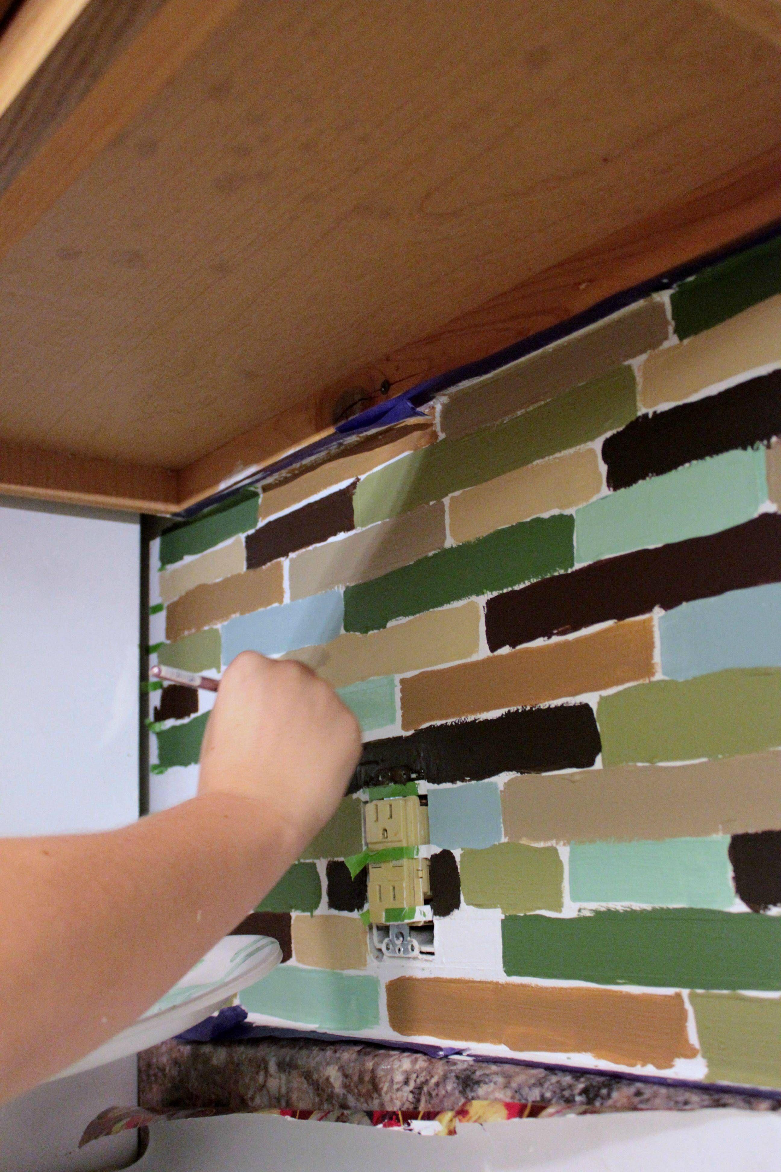 - Affordable DIY Backsplash - Mosaic Tile Paint Project Diy