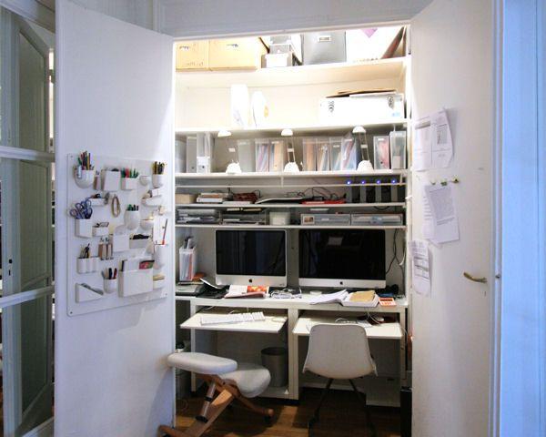 Des coins bureau qui nous inspirent coin bureau bureau for Bureau petit espace