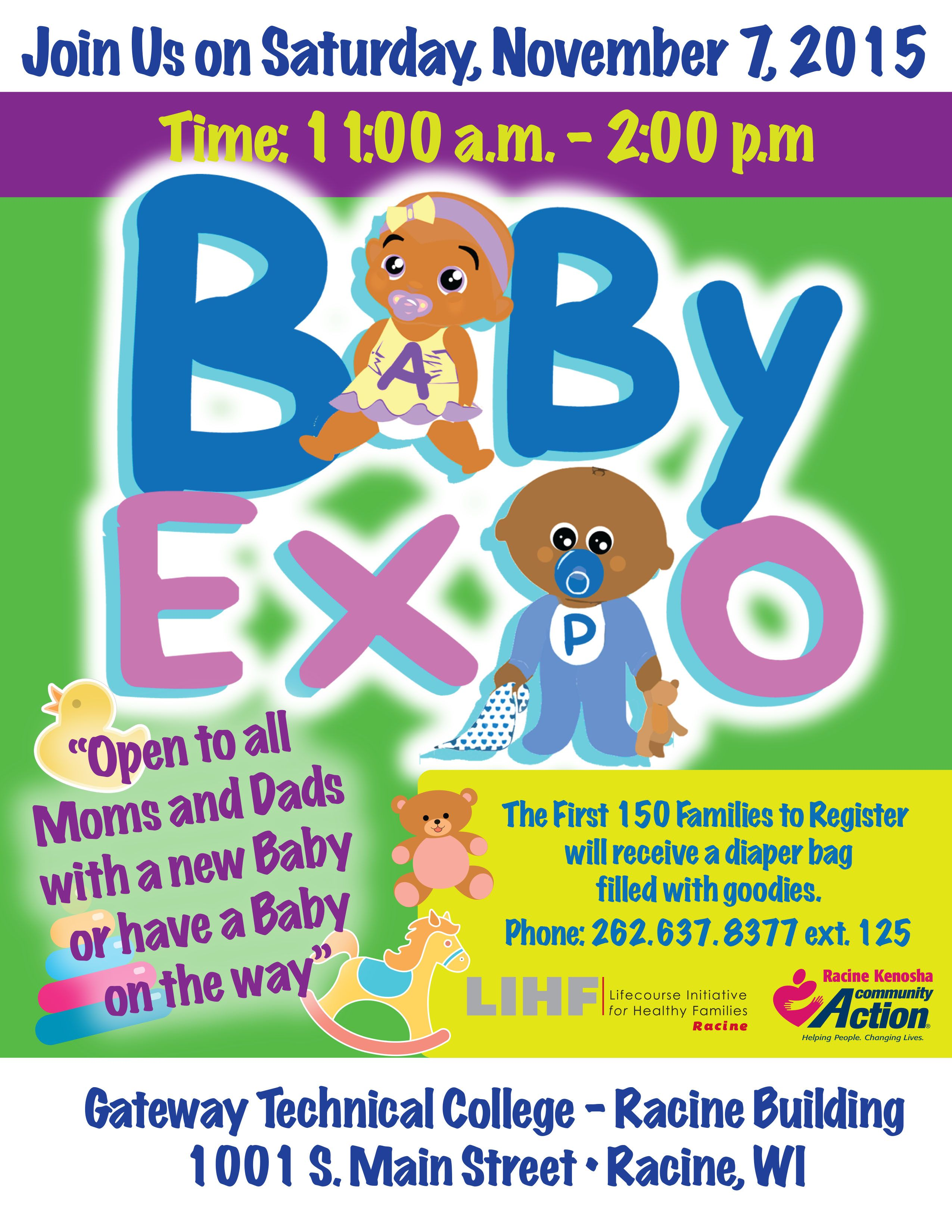 Register today! 150 diaper bags filled with goodies to the
