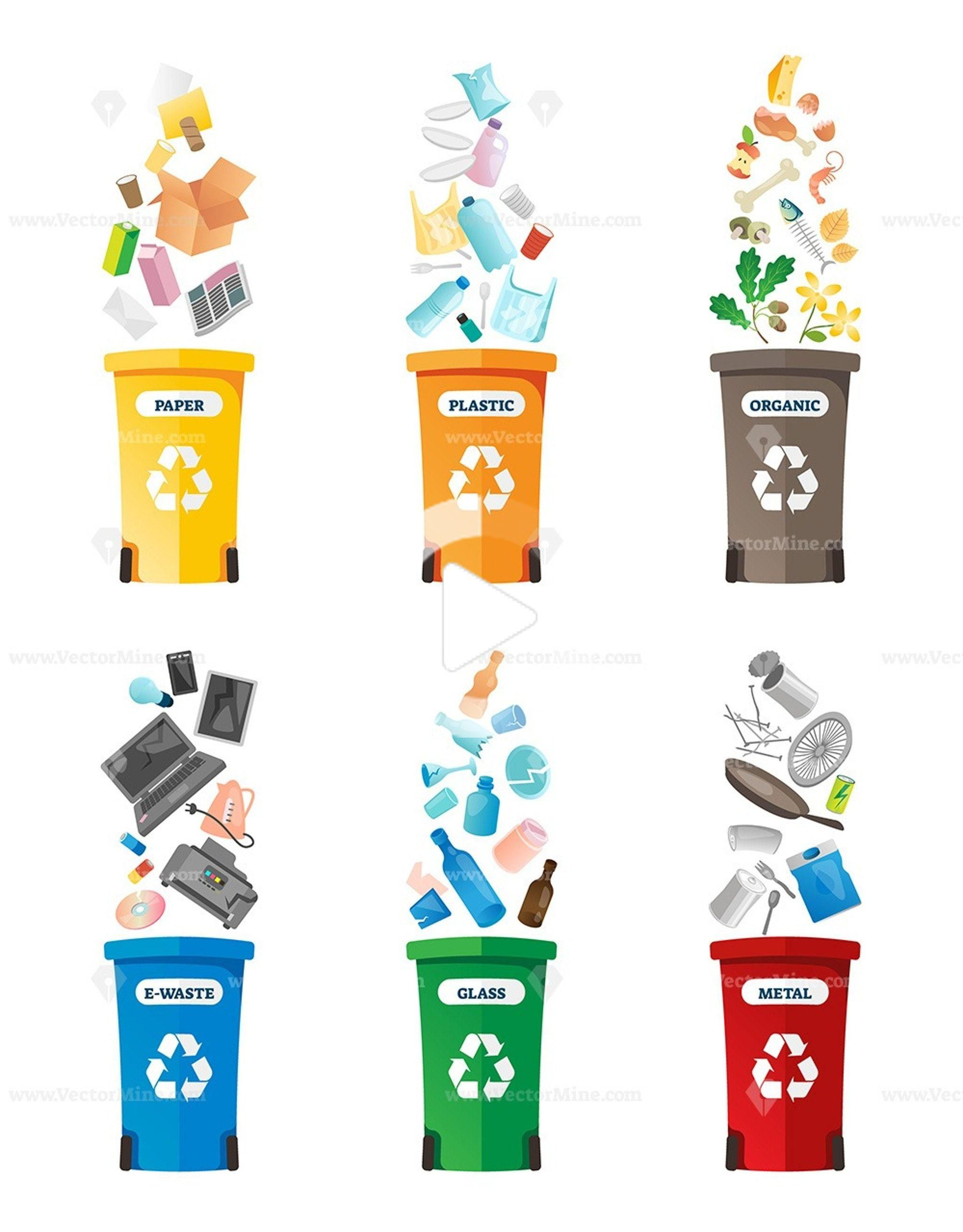 Free Recycling Vector Illustration Collection In