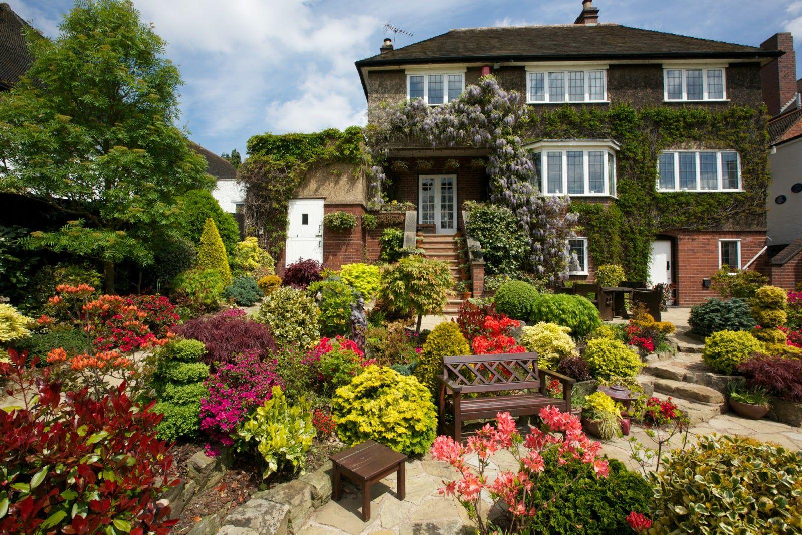 Flower Beautiful House in the World Four Seasons Garden