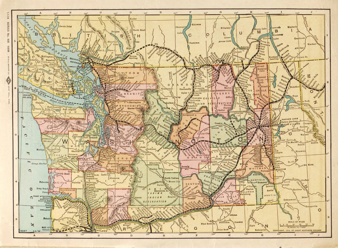 Great Northern Railway routes in Washington State