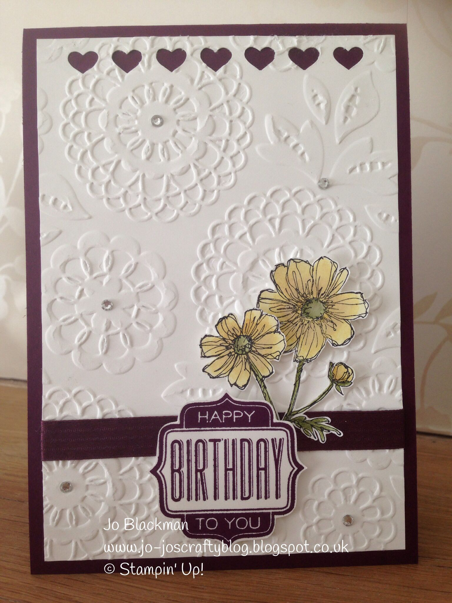 bloom with hope tag talk  embossed cards homemade cards