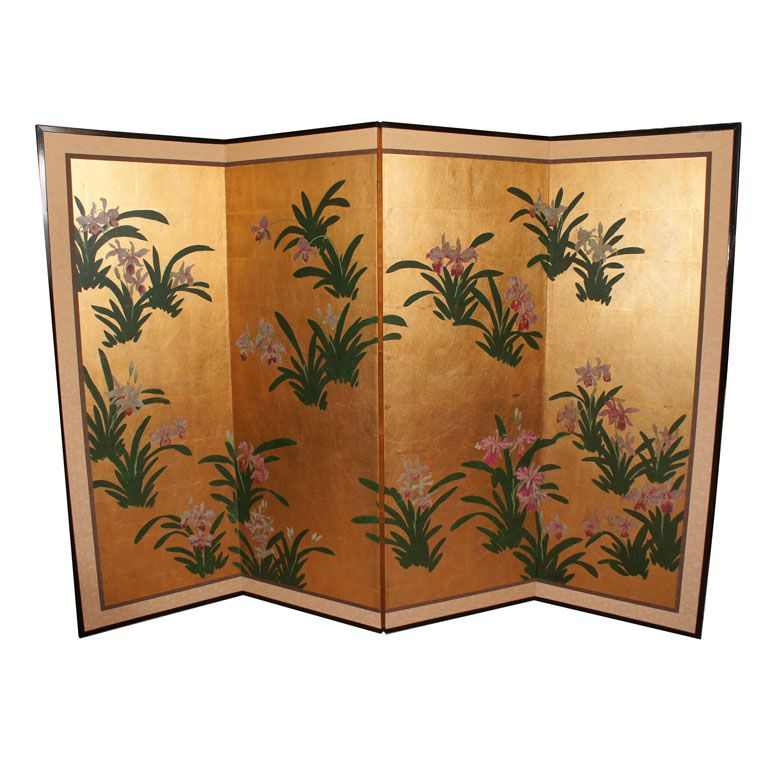 Japanese Painted Screen