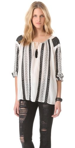 nili lotan bohemian embroidered blouse clothes pinterest. Black Bedroom Furniture Sets. Home Design Ideas