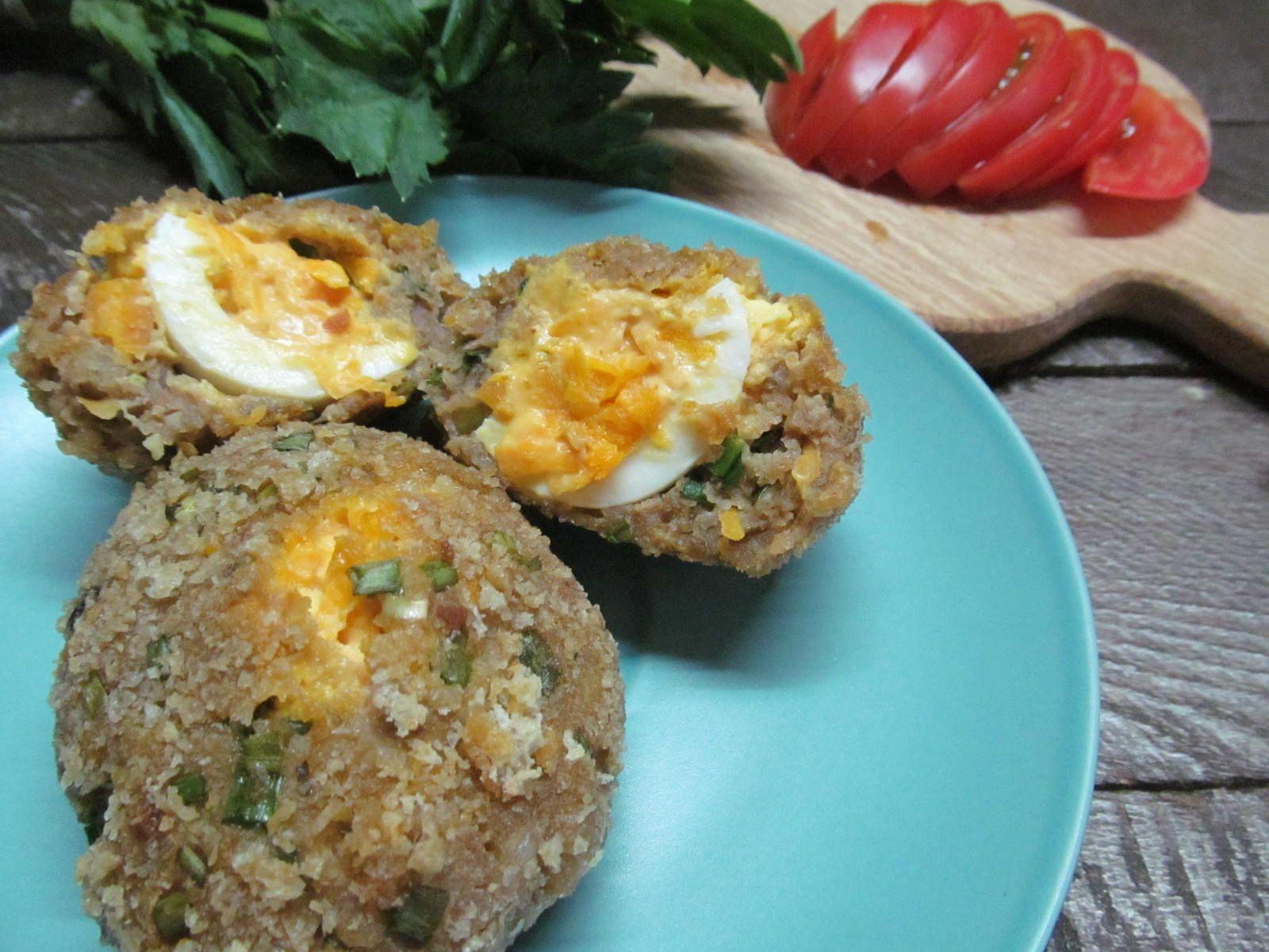 Мясные зразы с яйцом | Рецепт | Яйца, Домашний рецепт, Кетчуп